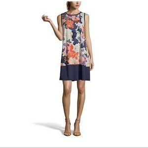 John Paul Richard floral shift summer dress M